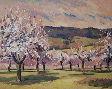 Appelbloesem in Epen van Nop Briex
