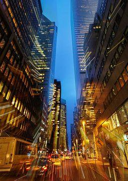 New York bei Nacht von Volker Banken