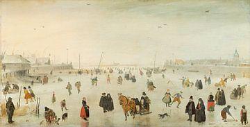 Eine Szene auf dem Eis, Hendrik Avercamp