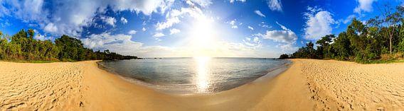 Tropisch strand 180 panorama van Dennis van de Water