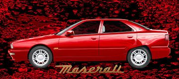 Maserati Quattroporte IV in rood van aRi F. Huber