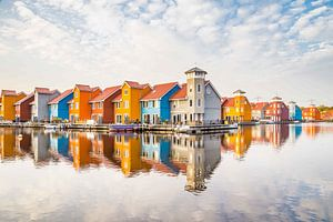Stadsgezicht Groningen, Nederland the Nethe van