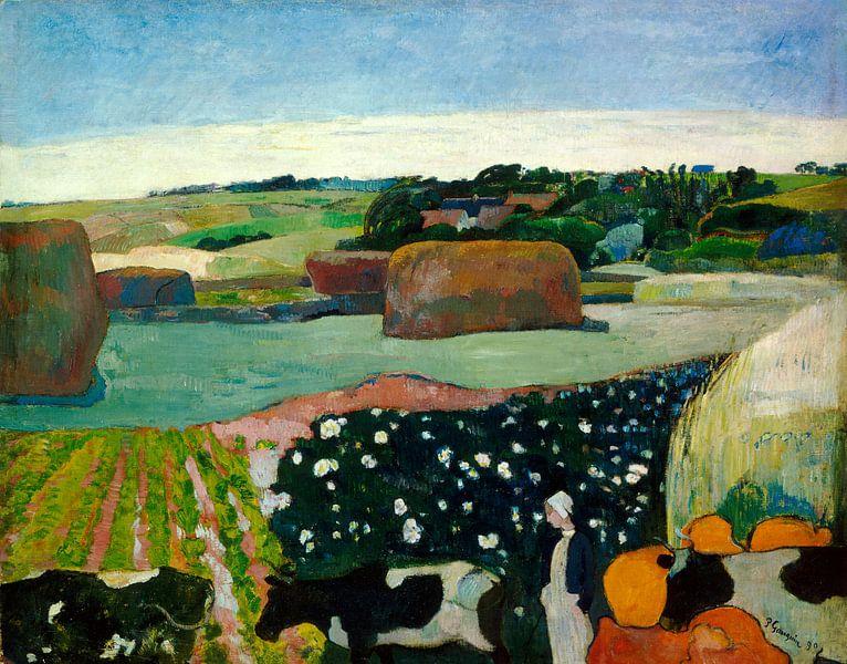 Hooibergen in Bretagne, Paul Gauguin van Liszt Collection