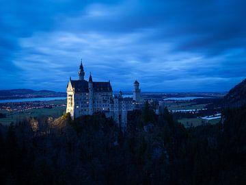 Neuschwanstein nach Sonnenuntergang von Margriet Photography