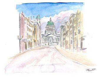 Belfast Nordirland Straßenszene in Ulster