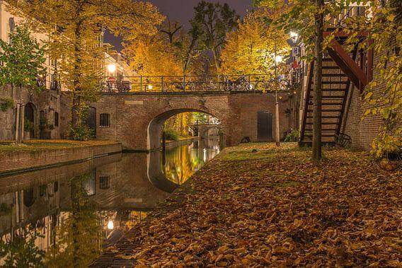 Nieuwegracht in Utrecht in de avond - 9