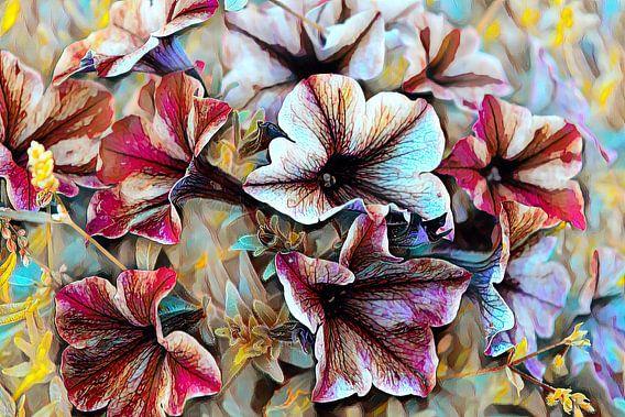 Sommerblumen Ölmalerei