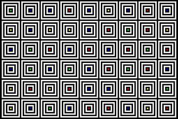 Nested | Center | 09x06 | N=04 | Random #01 | RGBY van Gerhard Haberern