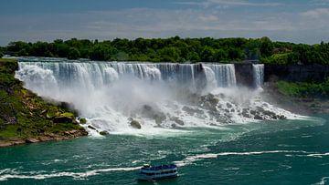 Die amerikanischen Wasserfälle in den Niagarafällen auf Augenhöhe des Niagaraflusses von Ed Steenhoek