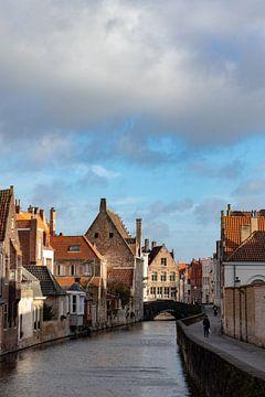 Straße im Zentrum von Brügge (Belgien) von Jord de Wilde