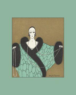 La perle - Boho, chic, Art Deco Fashion print van NOONY