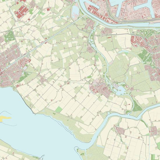 Kaart vanBernisse van Rebel Ontwerp