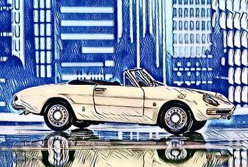 Alfa Romeo Spider Rundheck (1968) von Jean-Louis Glineur alias DeVerviers