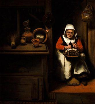 Der alte Spitzenklöppler, Nicolaes Maes.