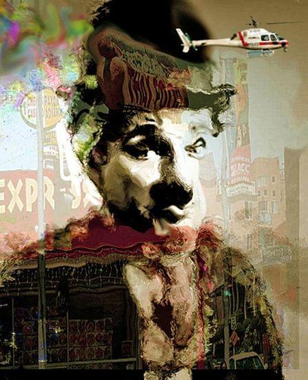 Chaplin Surprise Charlie Chaplin Pop Art van Leah Devora