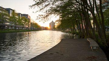 Sonnenuntergang am Apeldoorn-Kanal von Cor de Hamer
