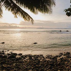 Plage du coucher de soleil Mentawai 2 sur Andy Troy