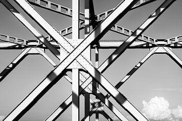 Ijzeren brug Bergsche Maas van Eugene Winthagen