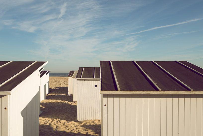 Strandhütten in Ostende von Rik Verslype