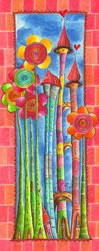 Windblumen Land 1 van Atelier BuntePunkt