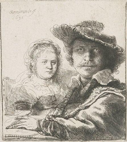 Selfportret with Saskia, Rembrandt von Het Archief