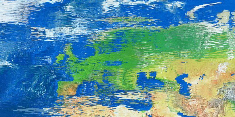 Waterspiegelkaart Europa van Frans Blok