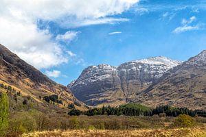 Malerische Landschaft in Glen Coe, Schottische Highlands, Schottland, Vereinigtes Königreich