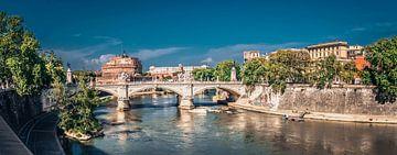 Brücke über den Tiber, Rome von Rietje Bulthuis