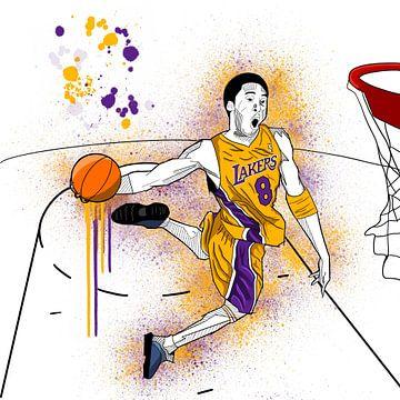 Kunstschets Kobe Bryant van Andre Bartnik