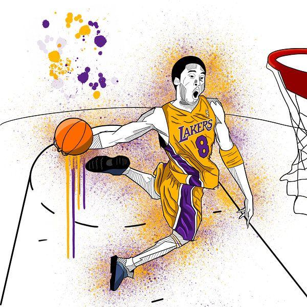 Art Sketch Kobe Bryant von Andre Bartnik