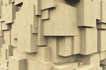 Q-Cubes 3D - Mur de grès