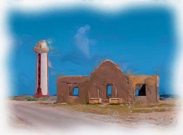 Phare de Willemstoren Bonaire sur Maurice Dawson