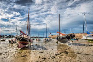 De haven van Erquy, Bretagne, Frankrijk