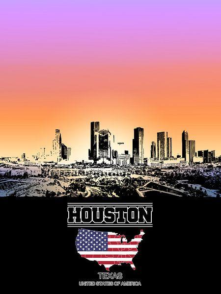 Houston van Printed Artings