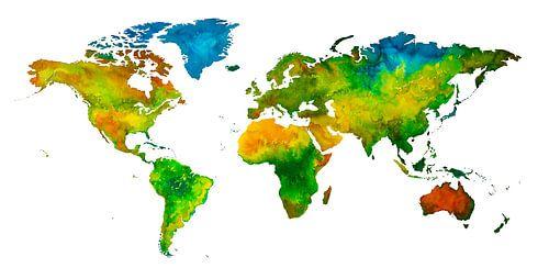 CARE Weltkarte | Kunst für einen guten Zweck von