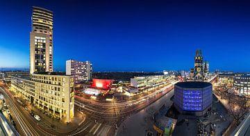 La ville de Berlin à l'horizon de la Breitscheidplatz sur Frank Herrmann