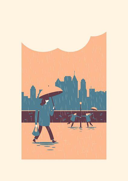 In the rain van Rene Hamann