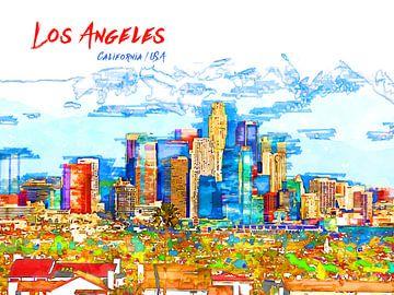 Los Angeles von Printed Artings