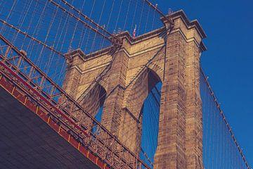 De bruggen in Dumbo New York 04 van FotoDennis.com