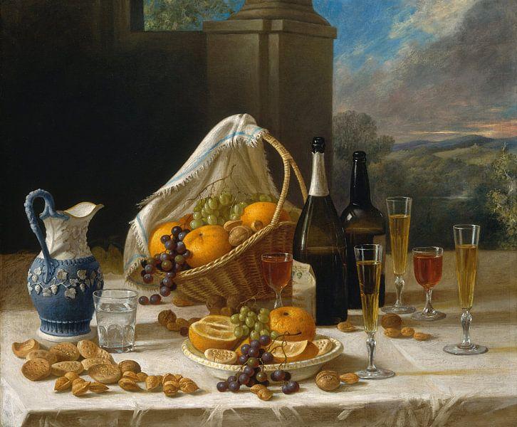 Mittagessen-Stillleben, John F. Francis von Meesterlijcke Meesters