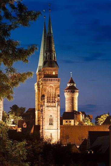 Nürnberg bei Nacht van Jan Schuler