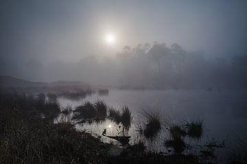 Nevelige zonsopkomst van Ger van Beek