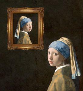 Perlen - Mädchen mit der Perle, Johannes Vermeer von Creative Masters
