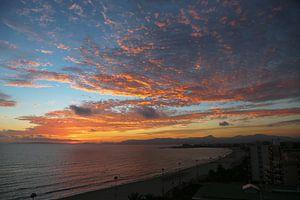 Zonsondergang Palma de Mallorca van