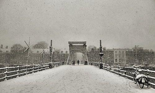 Magere Brug in de sneeuw II Amsterdam van