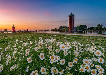 Zonsondergang in Aalsmeer van Remco Piet