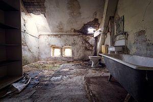 verlaten badkamer