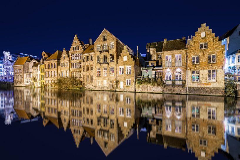 Gent bij Nacht  van Etienne Hessels