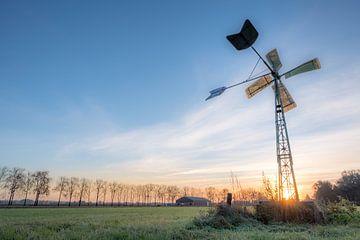 Windmolen in het weiland von Moetwil en van Dijk - Fotografie
