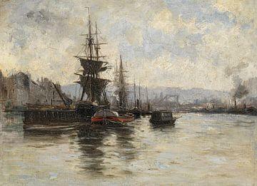 Carlos de Haes-Schepen naar zee, Antiek landschap